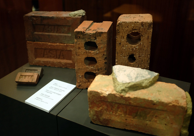 "A collection of Made-in-Singapore bricks are on display at the ""Our Bricks Estate"" exhibition through the end of August. 