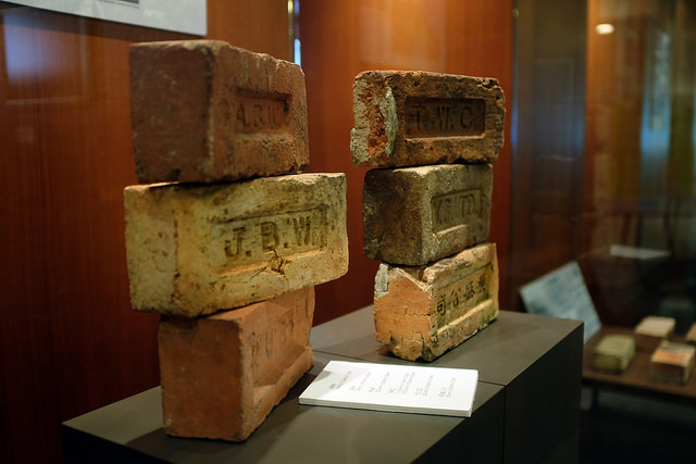 Brick makers in Singapore often printed their names onto the bricks themselves | PUBLIC DOMAIN