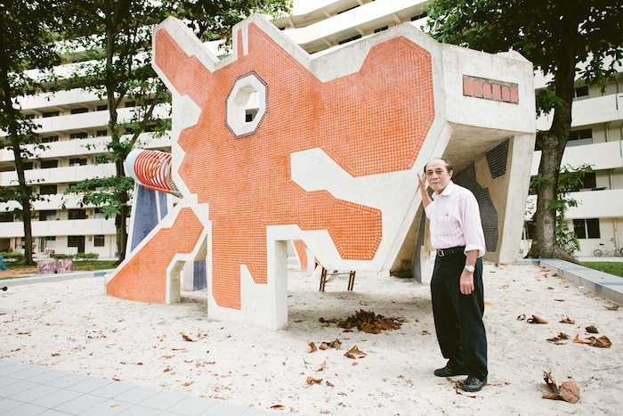 Ean Ghee Khor in front of one of his playground dragons. | ZAKARIA ZAINAL