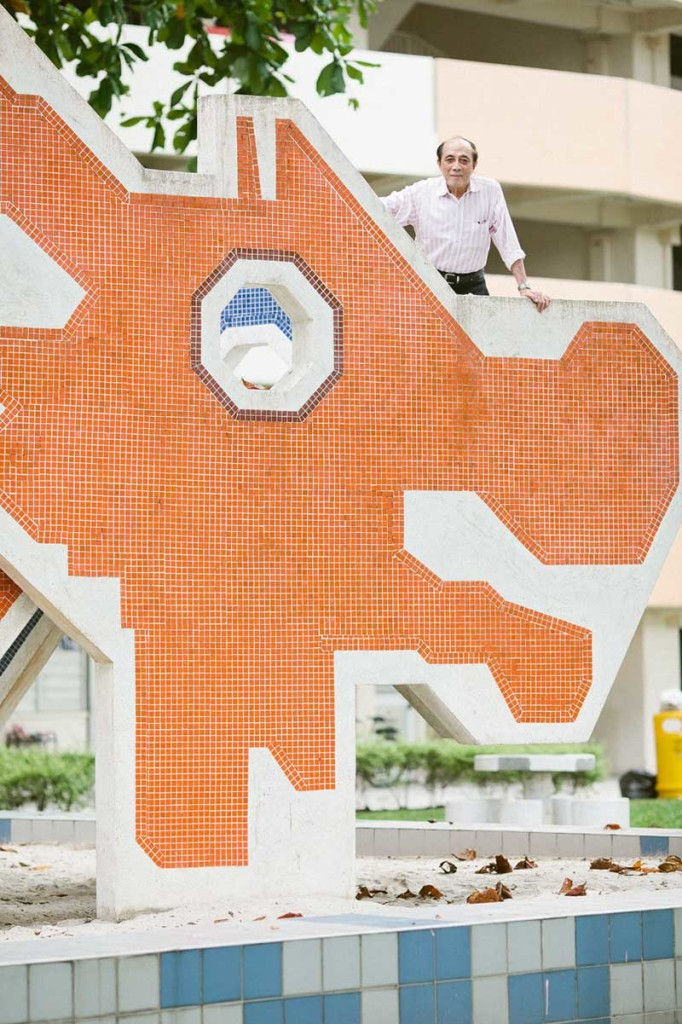Mr Khor Ean Ghee standing atop the Dragon Playground he designed. | PIX: ZAKARIA ZAINAL
