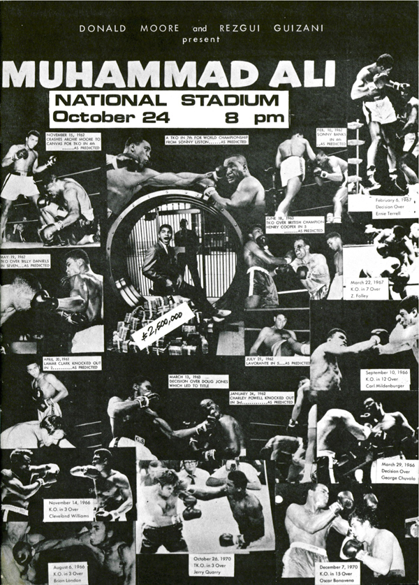 The programme cover for the 1973 Muhammad Ali exhibition fight that Moore brought in. | DONALD MOORE COLLECTION, COURTESY OF NATIONAL ARCHIVES OF SINGAPORE