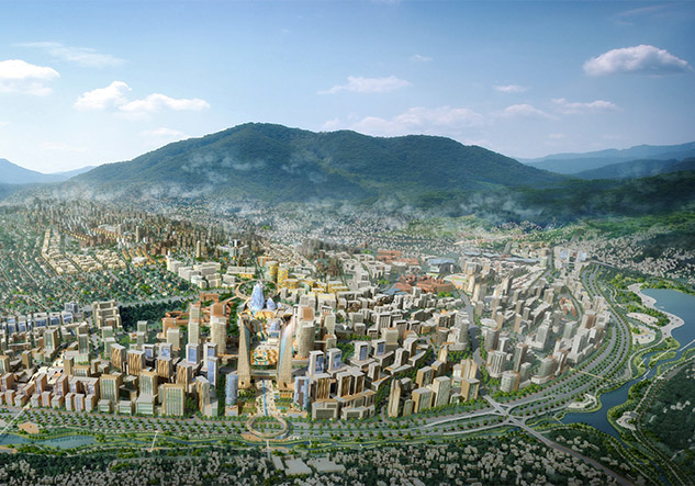 Illustration of Kigali City Masterplan | SURBANA