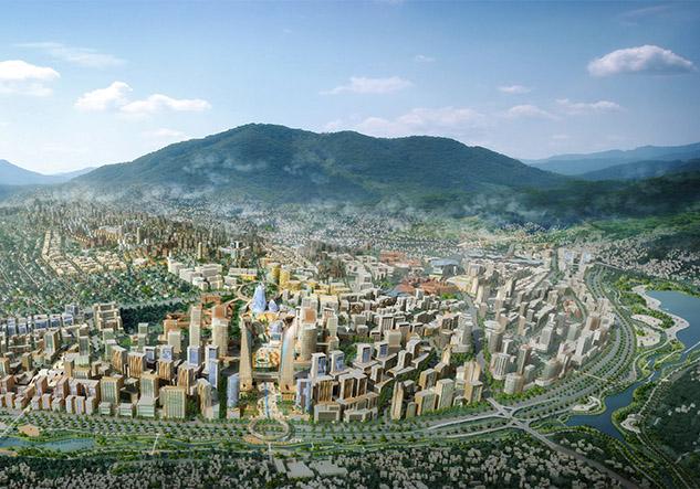 Illustration of Kigali City Masterplan | SURBANA